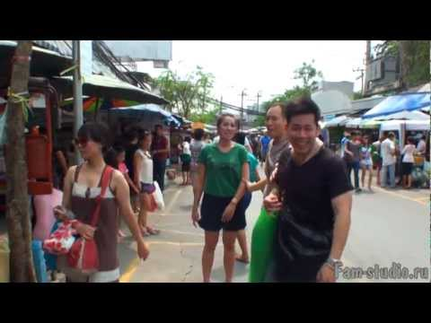 Бангкок - Чатучак маркет, огромный рынок выходного дня (клип)