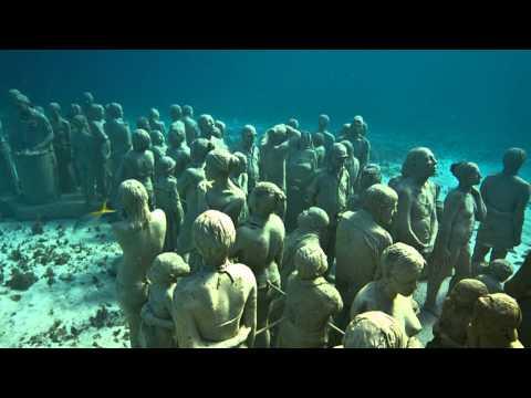 Парк скульптур под водой