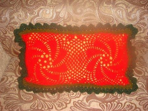 Вязаный чехол для диванной подушки