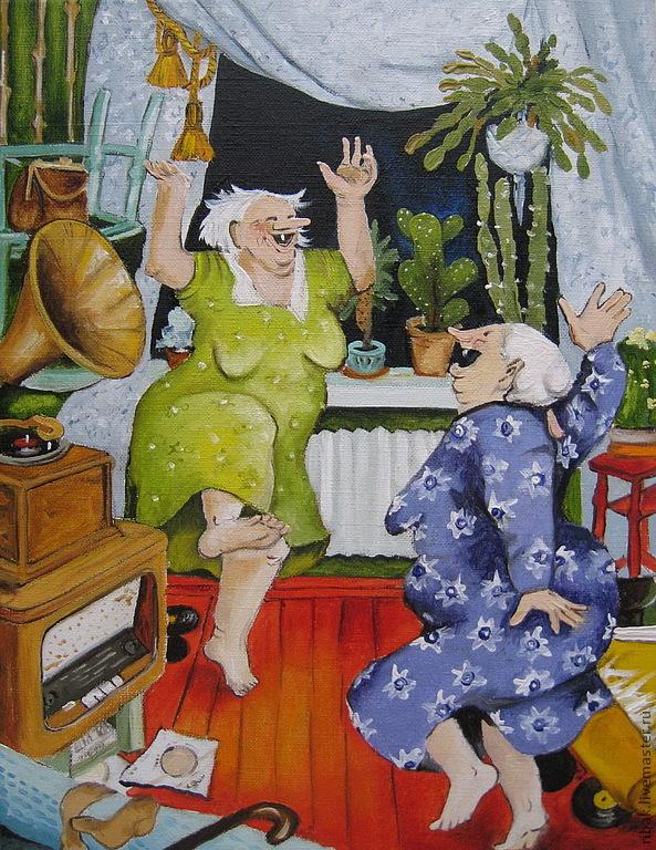 Прикольные картинки про старушек, открытка аукцион картинки