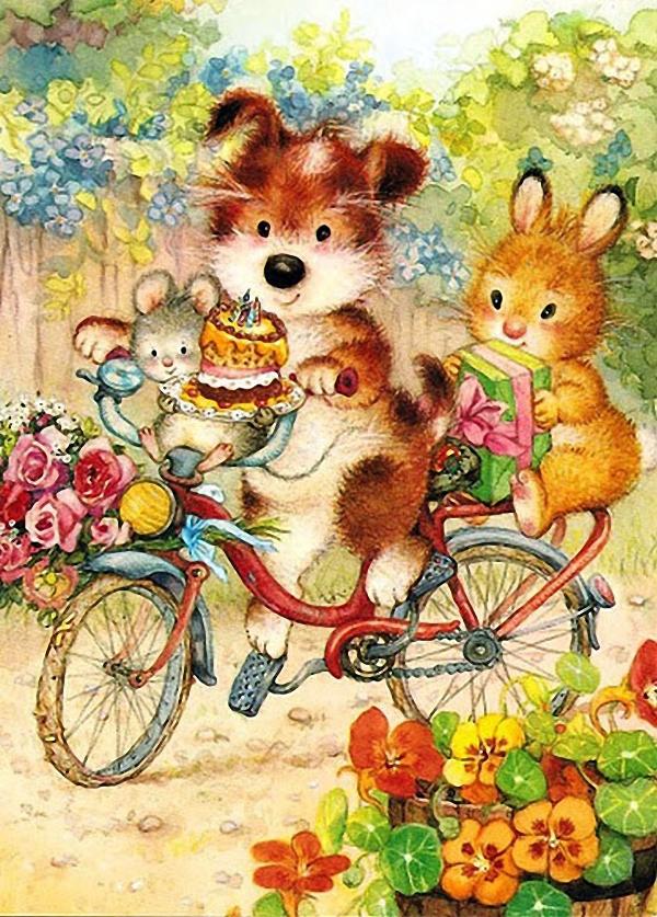 Милые советские открытки с днем рождения