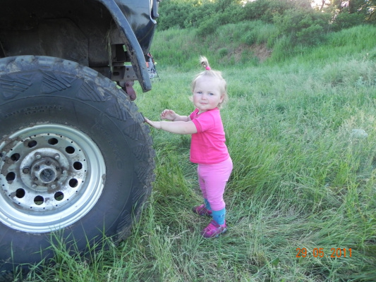 Папа, зачем тебе такие большие колеса !?
