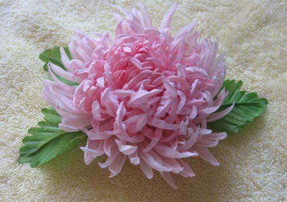 Хризантема из натурального шелка