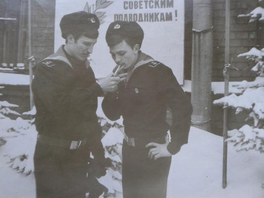 УКОПП им.С.М.Кирова. Перед торжественным построением, 23 февраля 1977 года.