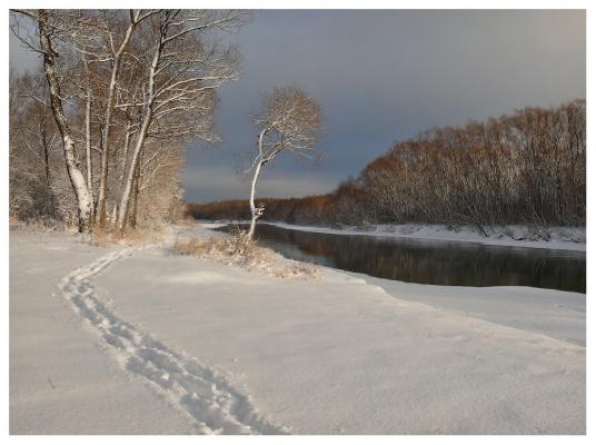 Первый снег,декабрь...