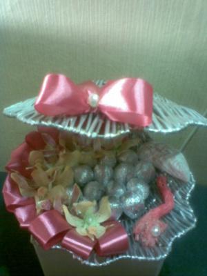 букеты из конфет Ракушка