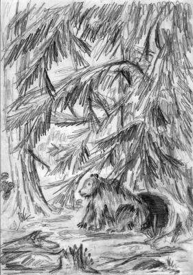 Медведица у берлоги