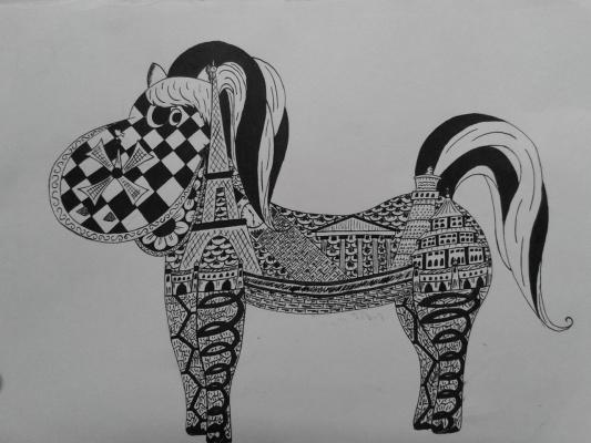Архитектурная лошадь. Автор Демонова Арина