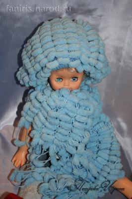 """Комплект для девочки """"Голубой снежок"""""""