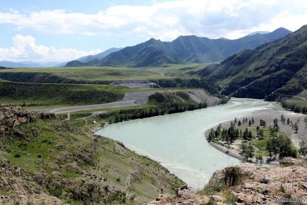 Алтай , берега Катуни