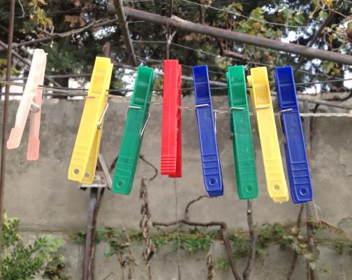 Желто-зеленый-красно-синий:-)