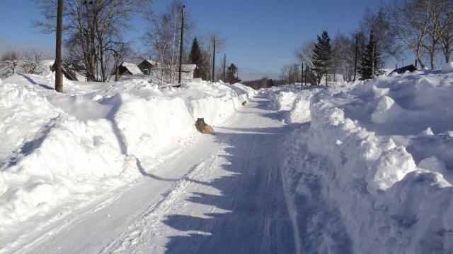 Зима в марте.