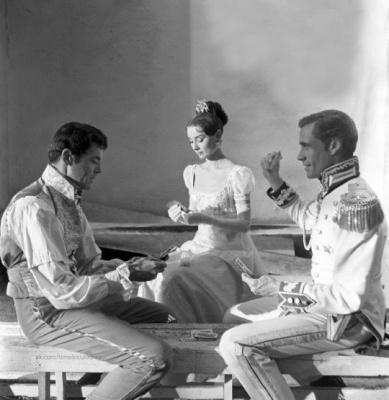 """На съемках фильма """"Война и мир"""", 1955."""