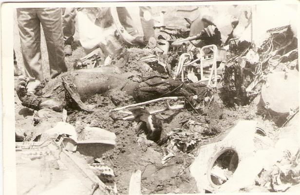 сбитый иранский вертолет под Ашхабадом