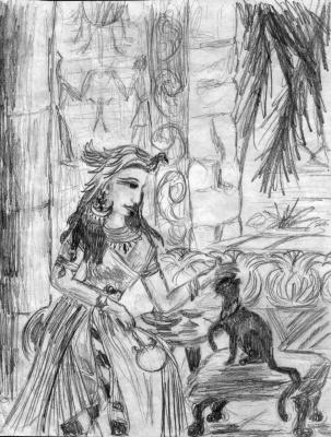 Исида и кошка