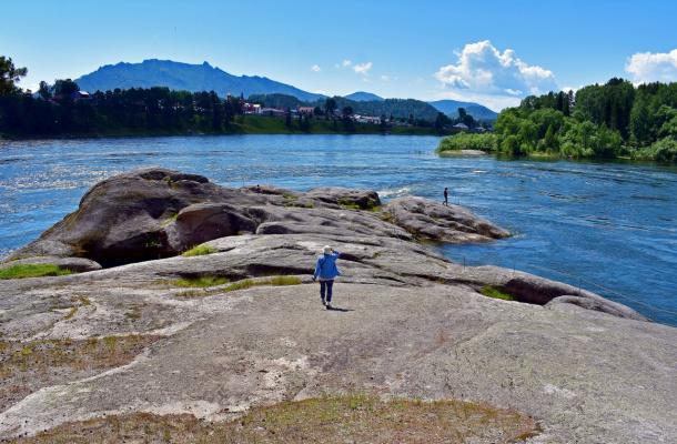 Мыс любви на реке Бия