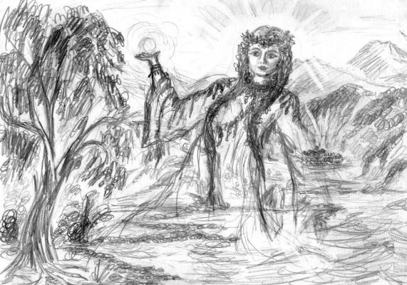 Богиня Лада в горах Лукаморья