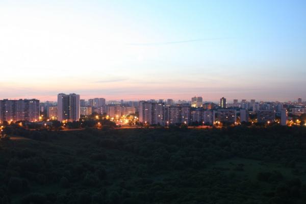 Раннее утро над речкой Сходней