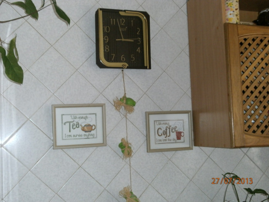 Вышивка в интерьере кухни