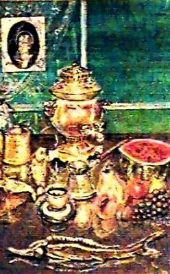 Астраханский натюрморт с арбузом и самоваром