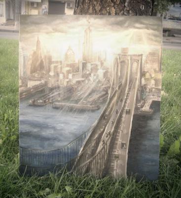 "картина ""Небо над Нью-Йорком"""