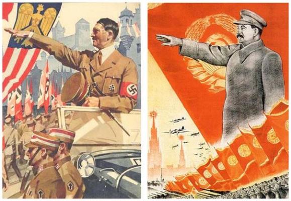 Плакаты: Германии и СССР