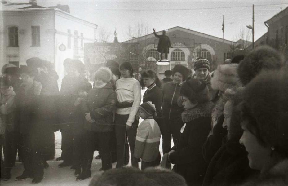 Готовятся команды и зрители...Зима 1983.