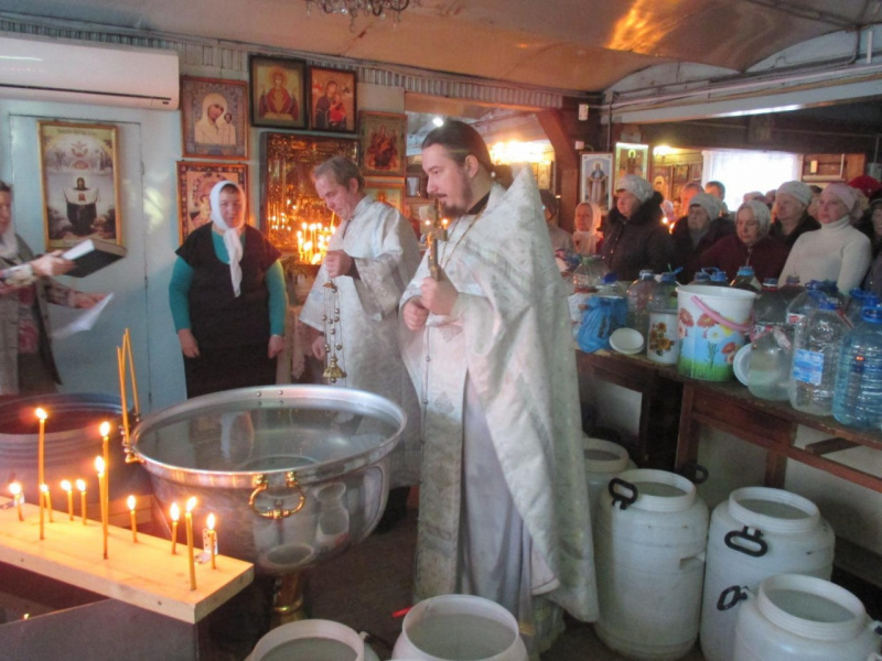 Освящение воды в храме Преображения Господня