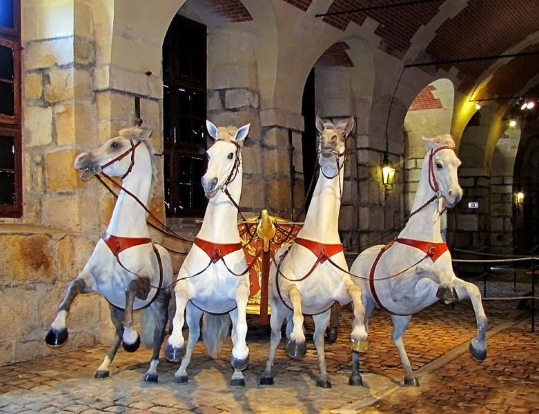 В музее лошадей и карет замка Шенонсо (Париж)