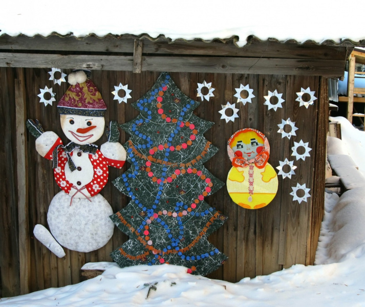 Веселый зимний сюжет. И снова автор: Надежда Шишкина (Сизова).